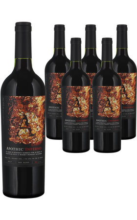 Vins rouges - Apothic Inferno Wine whit a Whiskey Soul 6x  75cl