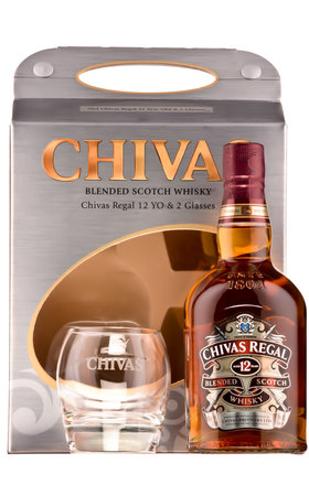 Blended Whisky - Chivas Regal Premium Scotch Whisky, 12 years + 2 glasses