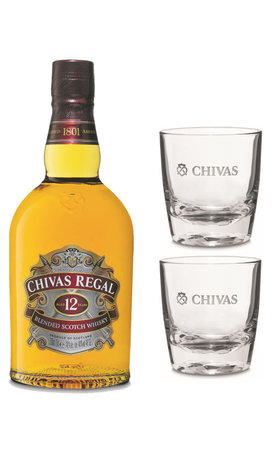 Chivas Regal 12 Years with 2 Glasses