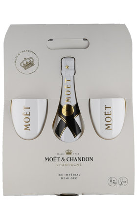 Champagne - Champagne AOC Ice Impérial Moët & Chandon with two glasses