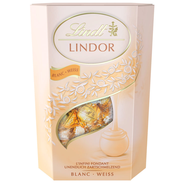 Praline Balls & Squares - Lindt Lindor White Chocolate Truffle with Creamy Centre