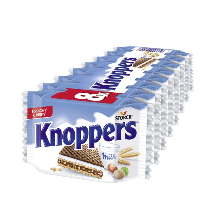 Hüppen, Wafers & Läckerli - Knoppers Milk Chocolate Wafers with Hazelnuts 8 Pieces