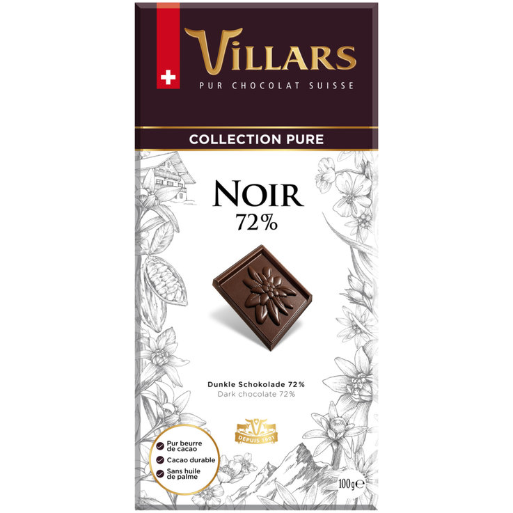 Dark - Villars Dark Chocolate Bar