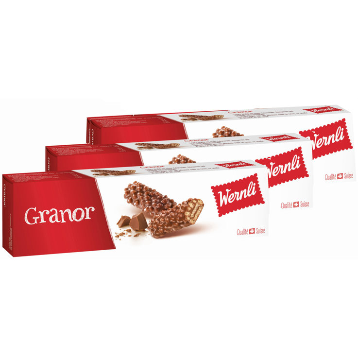 Chocolate Covered - Wernli Granor Crispy Biscuits 3x  100g