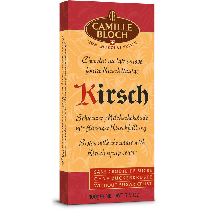 With Alcohol - Camille Bloch Chocolate Bar with Kirsch