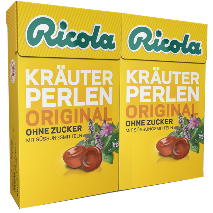Soft Sweets & Lozenges - Ricola Sugarfree Herb Chewy Lozenges 2x25g