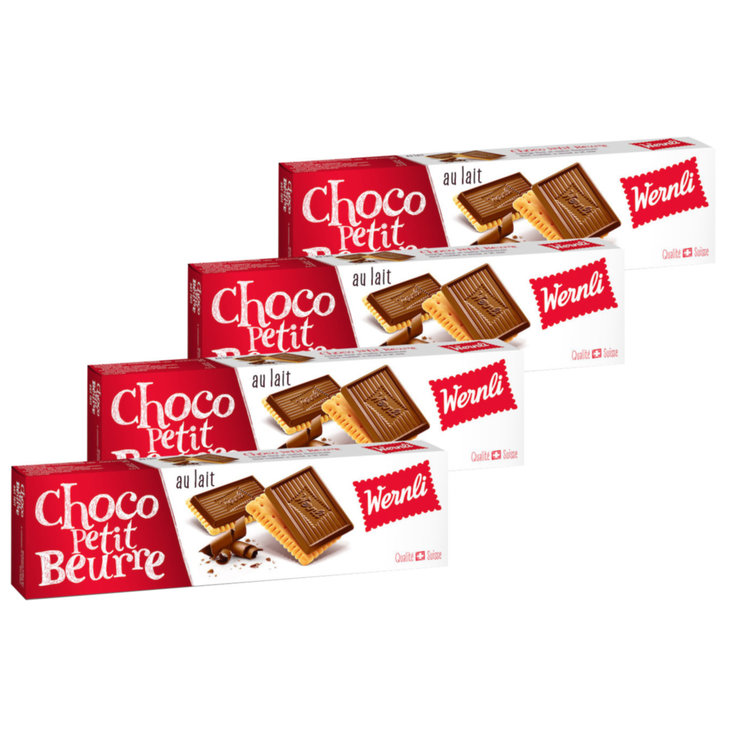 Chocolate Covered - Wernli Milk Chocolate Petit Beurre Biscuits 4x  125g