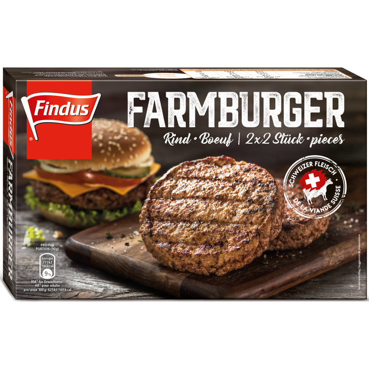 Meat Products - Findus Frozen Beef Farmburgers 4 Pieces