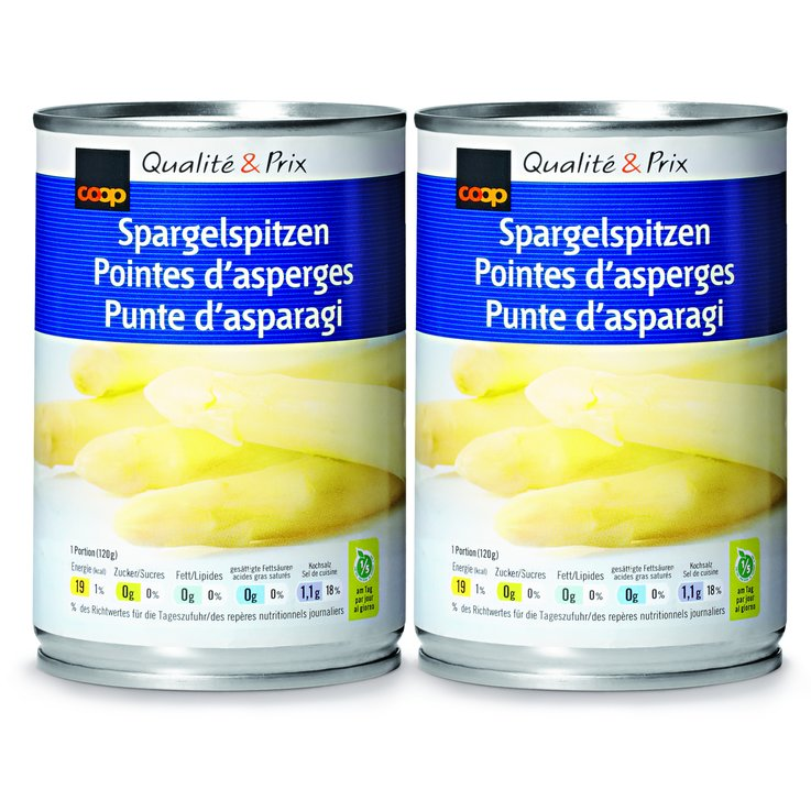 Mixed Vegetables - Canned White Asparagus Tips 2x  185g