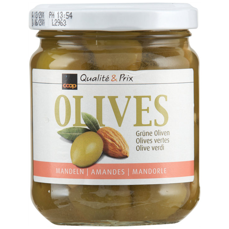 Olives - Green Olives Stuffed with Almonds