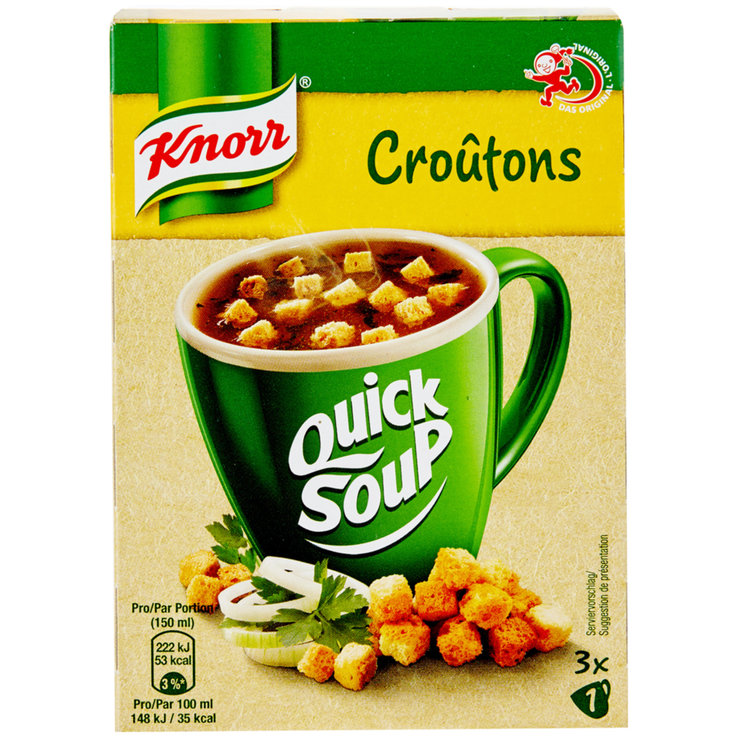 Clear Soup - Knorr Quick Soup Croutons Soup Mix