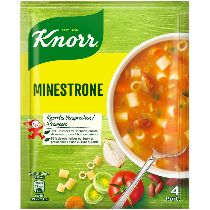 Grain & Spicy Soup - Knorr Minestrone Soup Mix