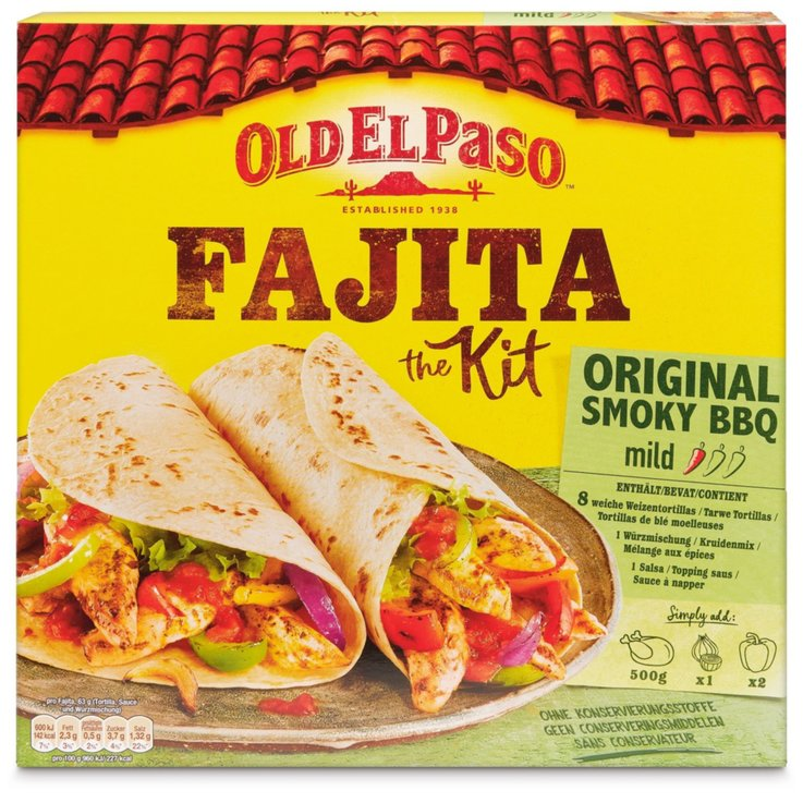 Pains galettes & Tortillas - Old El Paso Fajita Kit