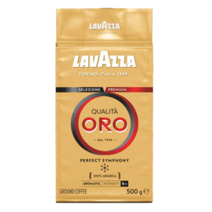 Ground Coffee - Lavazza 100% Arabica Qualità Oro Ground Coffee