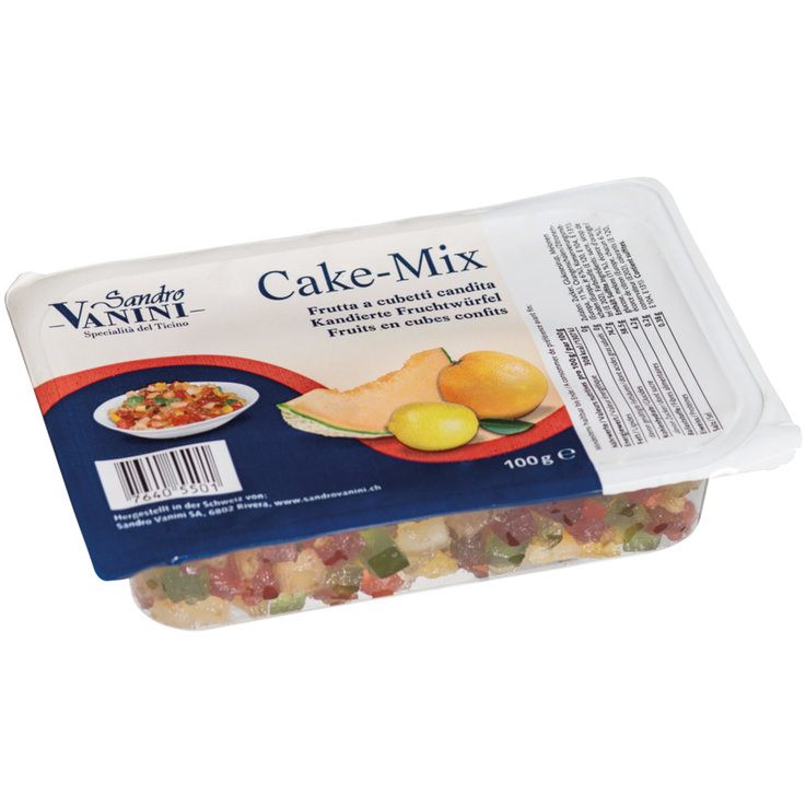Fruit & Flavourings - Vanini Cake-Mix Candied Fruit Cubes