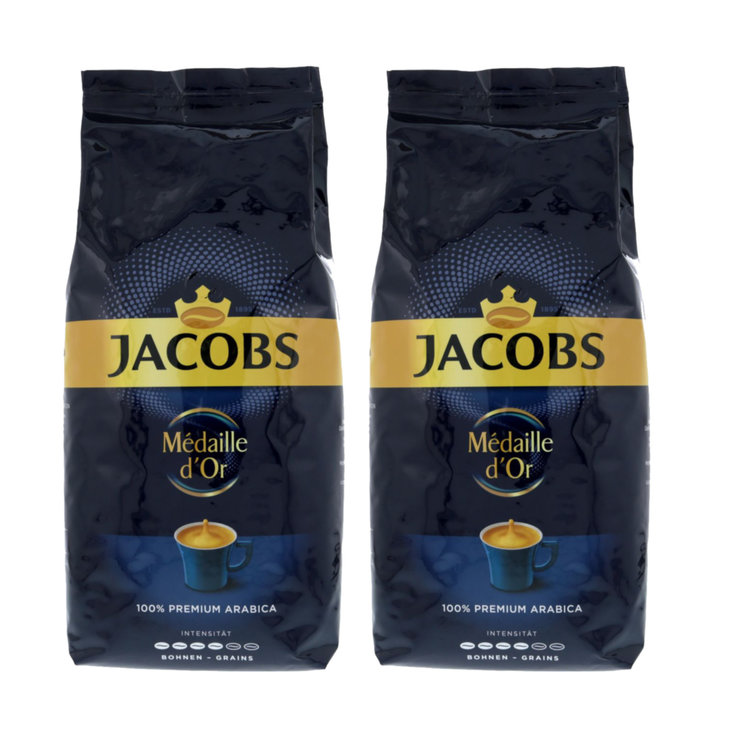 Coffee Beans - Jacobs Médaille d'Or 100% Premium Arabica Coffee Beans 2x  1kg
