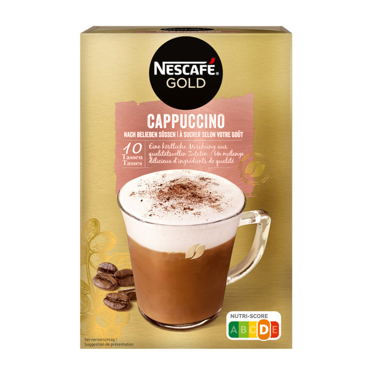 Instant Coffee - Nescafé Unsweetened Cappuccino Mix 10 Portions