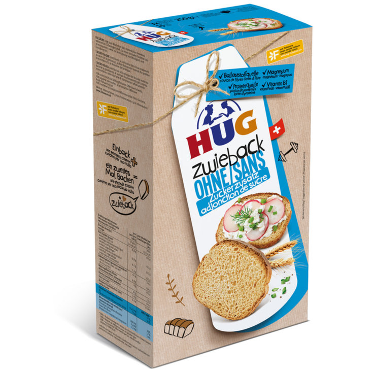 Melba Toast - Hug Zwieback Melba Toast with no Added Sugar
