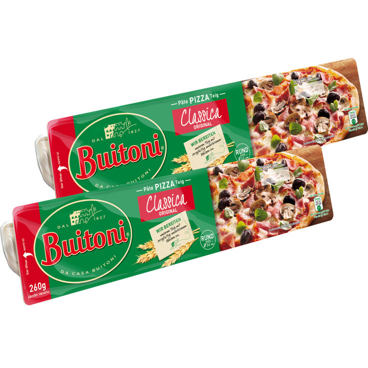 Pizza & Pasta Dough - Buitoni Rolled Out Round Pizza Dough Ø24cm 2x  260g