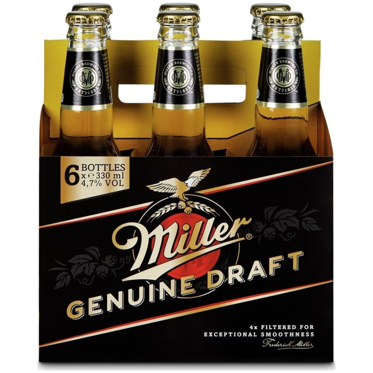 Beer Multipacks - Miller Draft Beer 6x33cl