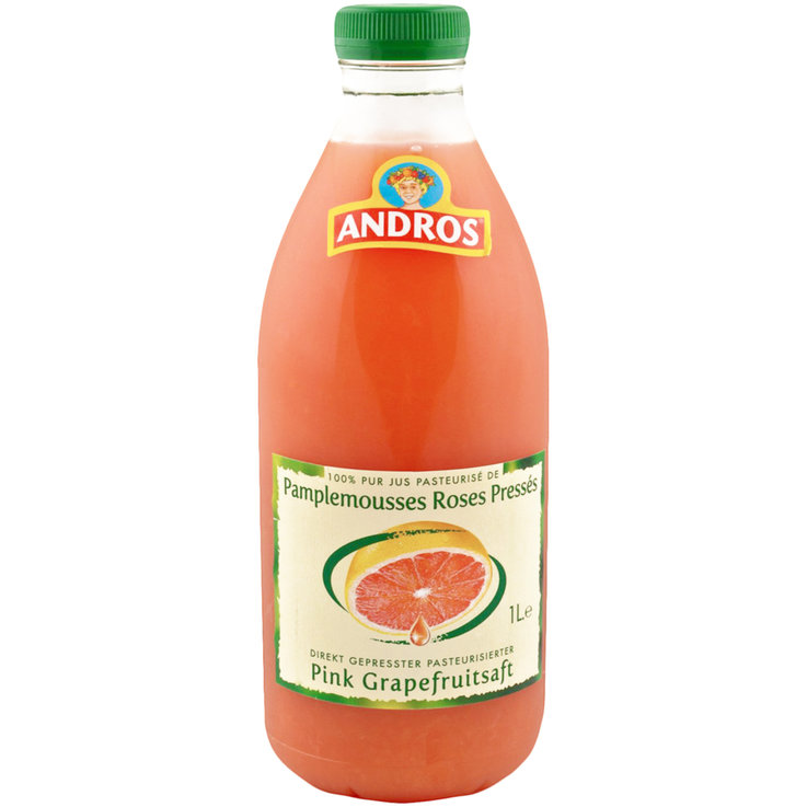 Other Fresh Juices - Andros Pink Grapefruit Juice