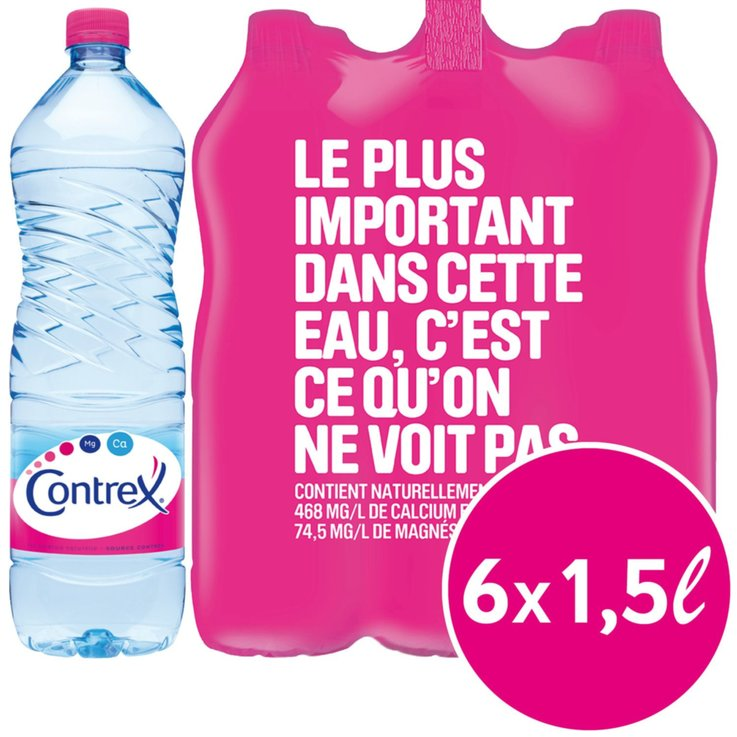 Multipacks more than 1 Liter - Contrex Non Carbonated Natural Mineral Water 6x1.5l