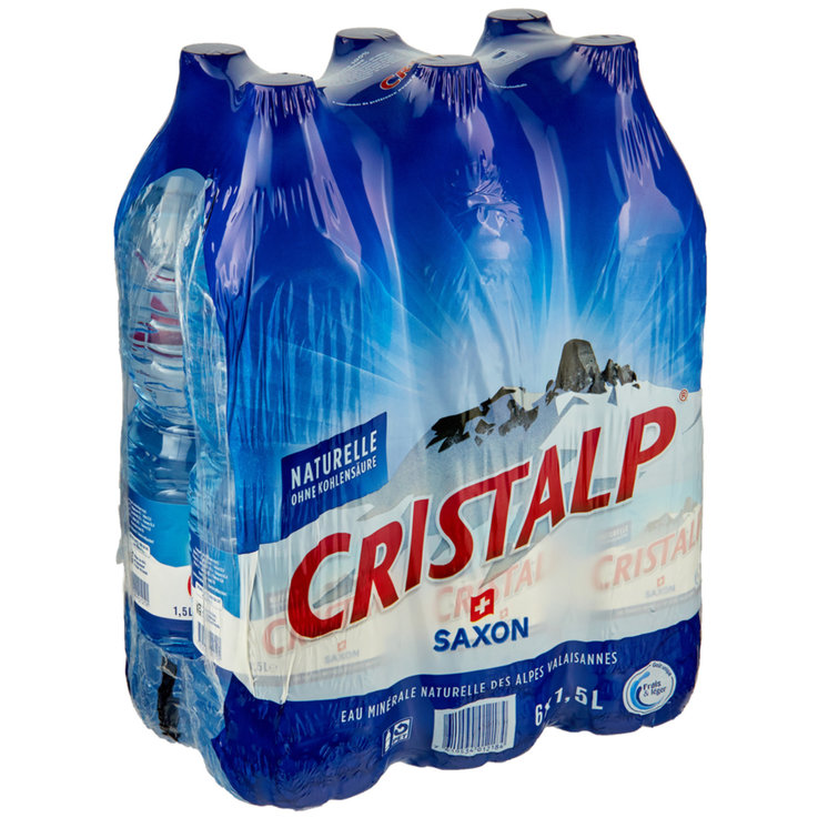 Multipacks more than 1 Liter - Cristalp Non Carbonated Mineral Water 6x1.5l
