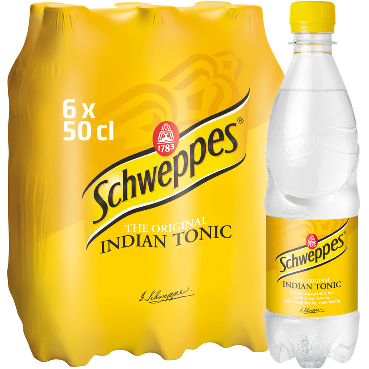Multipacks de moins d'un litre - Schweppes Indian Tonic 6x50cl