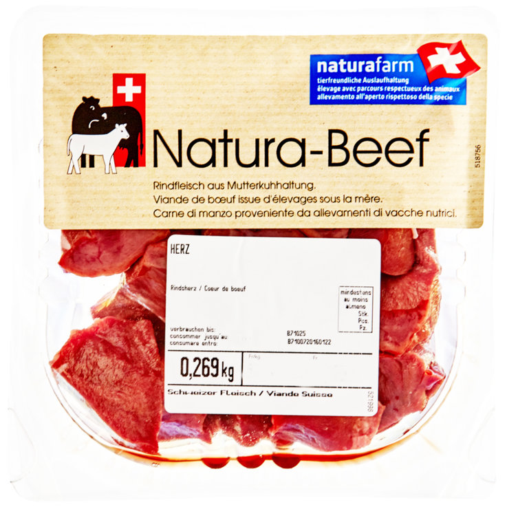 Pork Products & Offal - Naturafarm Diced Beef Heart 200g