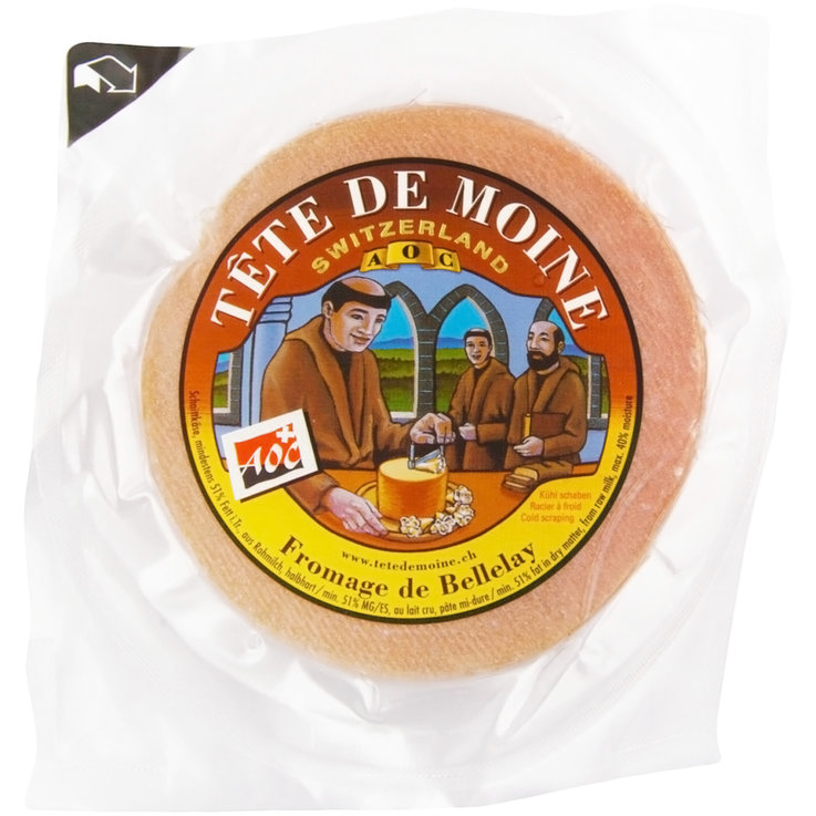 Other Cheeses - Tête de Moine 1/2 Cheese Round ca. 440g
