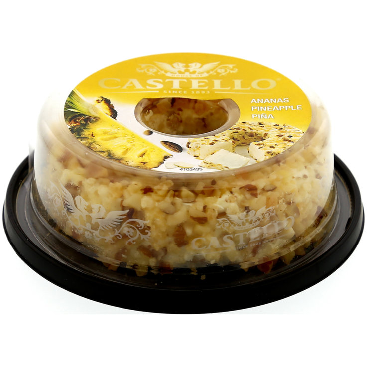 Cream Cheese & Fresh Spread - Castello Cream Cheese Pineapple with Almonds