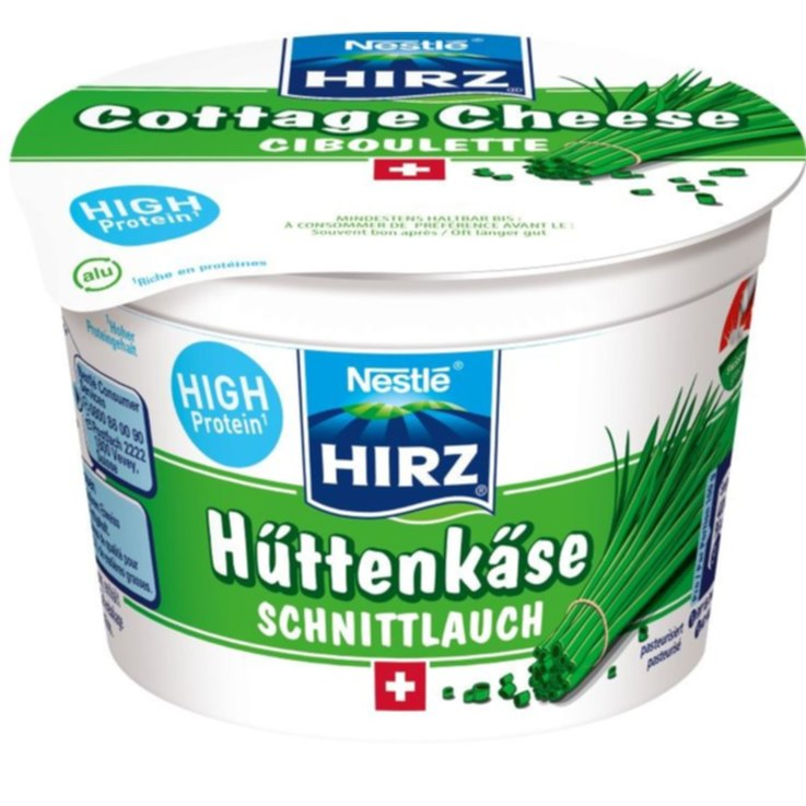 Cottage cheese - Hirz Cottage Cheese all'erba cipollina 1/4 grasso