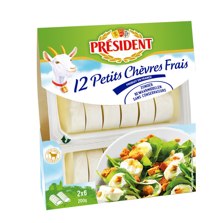 Goat''s & Sheep''s Cheese - Président Pasteurized Goat Cheese 12 Portions