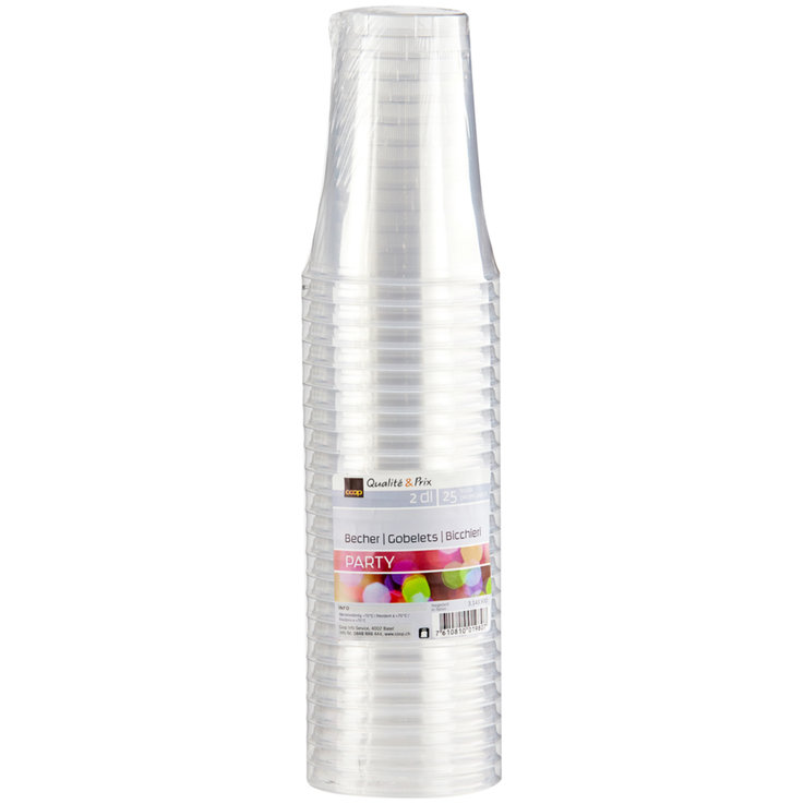 Cup - 2dl Transparent Cups 25 Pieces