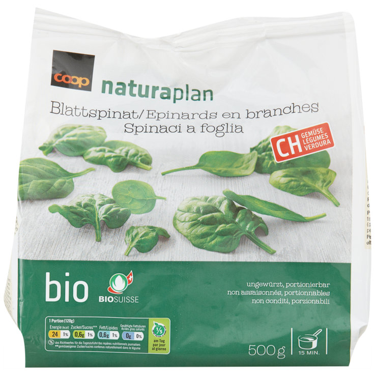 Vegetables - Naturaplan Organic Frozen Spinach Branches