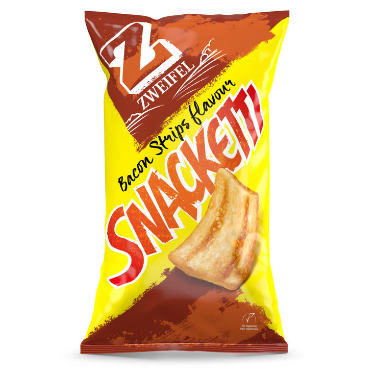 Flips & Puff-Chips - Zweifel Snacketti Bacon Strip Chips