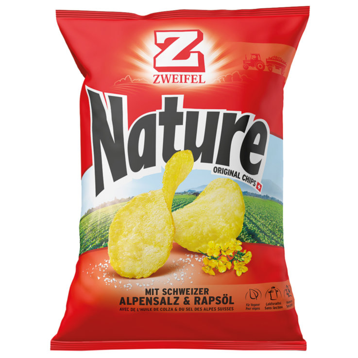 Plain Crisps - Zweifel Original Natural Chips