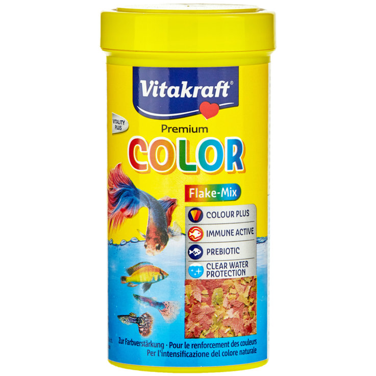 Aquarium Fish Food - Vitakraft Premium Vita Color Flake Mix 250 ml