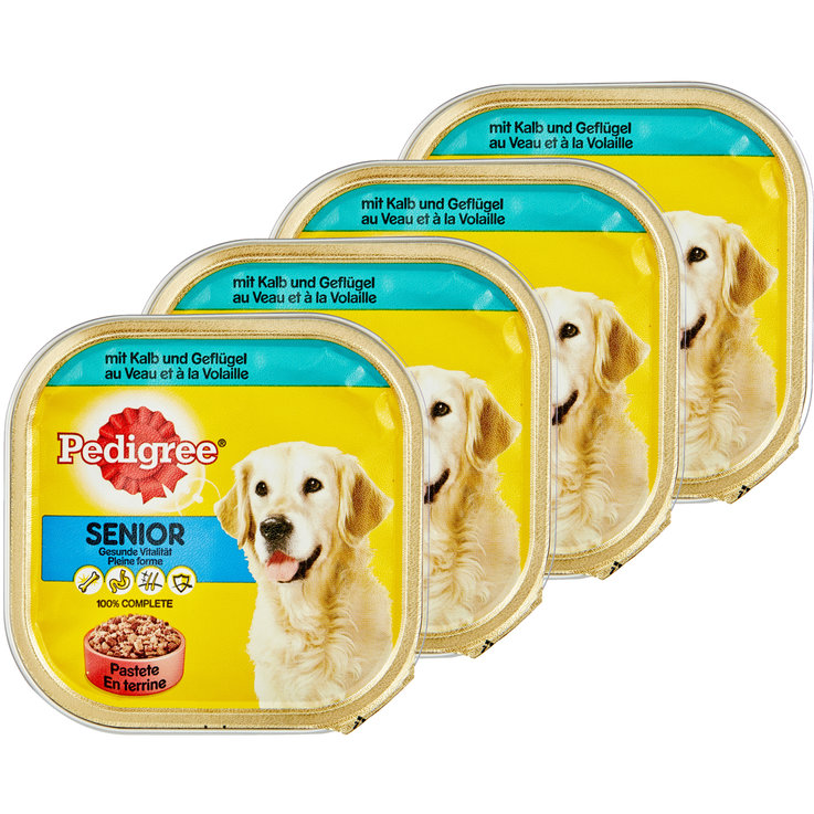 Wet Food - Pedigree Veal & Poultry Flavoured Dry Senior Dog Food 4x  300g