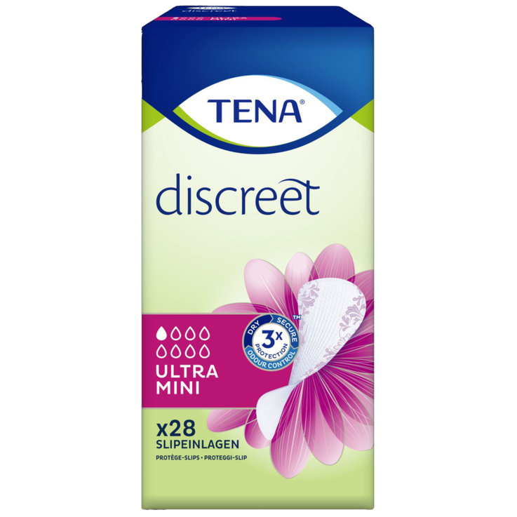 Panty Liners - Tena Discreet Ultra Mini Panty Liners 28 Pieces
