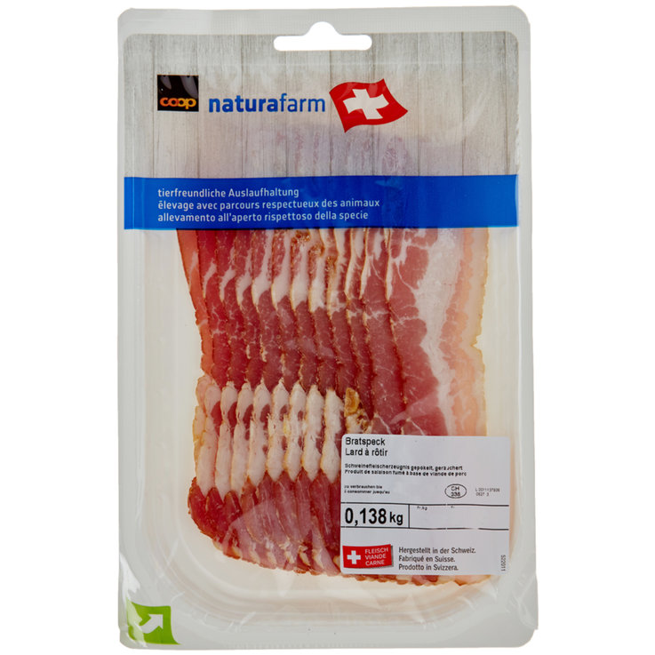 Bacon - Naturafarm Bacon without Rind ca. 150g