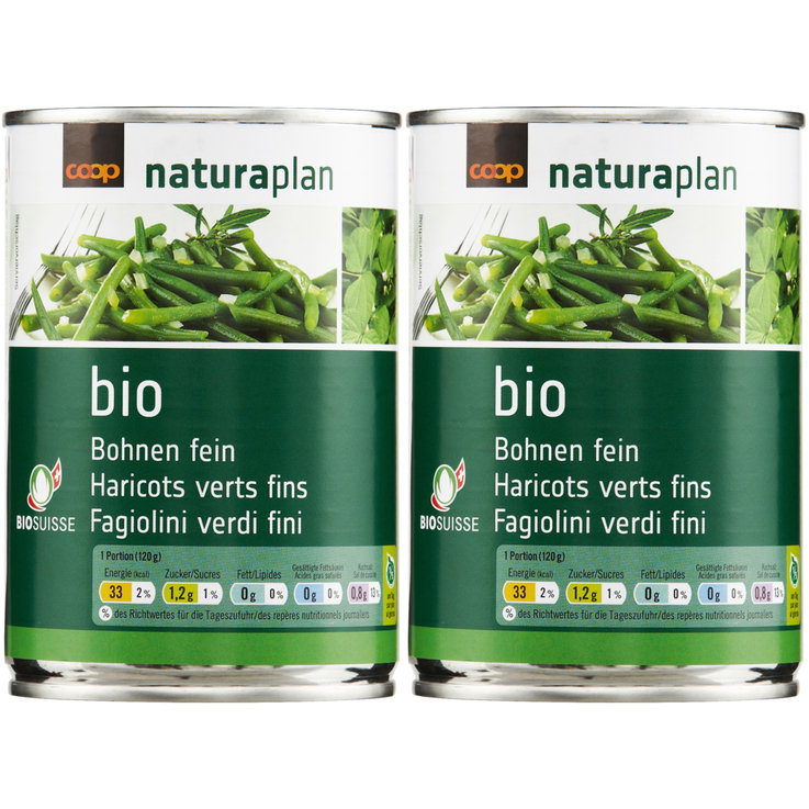 Haricots & Légumineuses - Naturaplan Bio Haricots verts fins 2x  210g