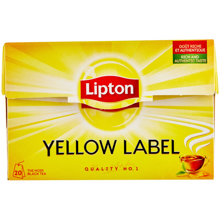 Tè nero - Lipton Tè nero Yellow Label 20 bustine