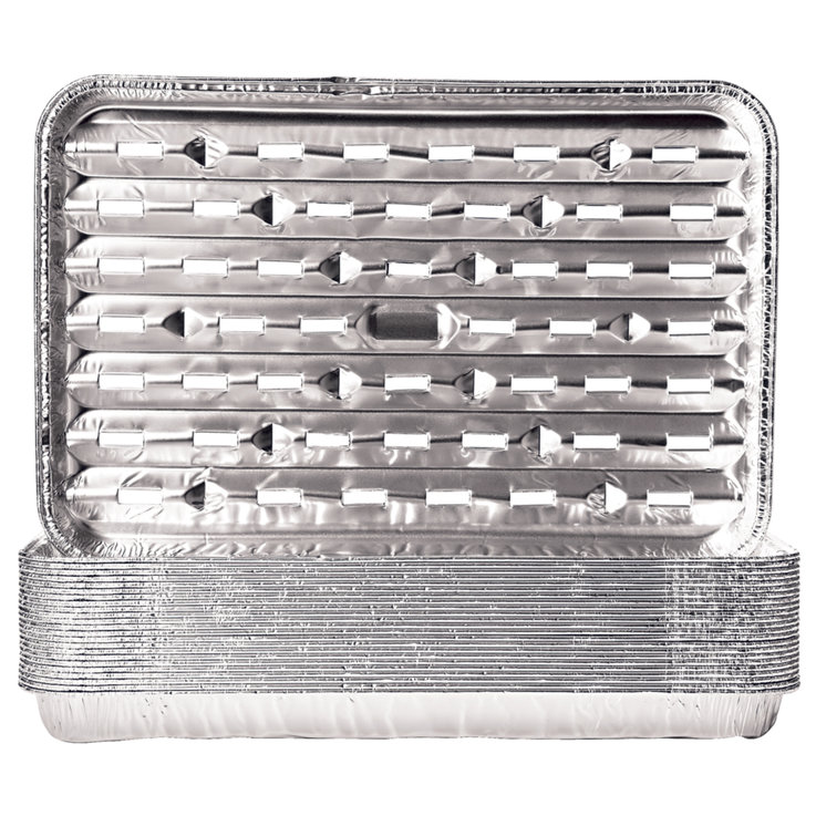 Grill Accessories - Aluminium Grill Pans 34x23cm 24 Pieces