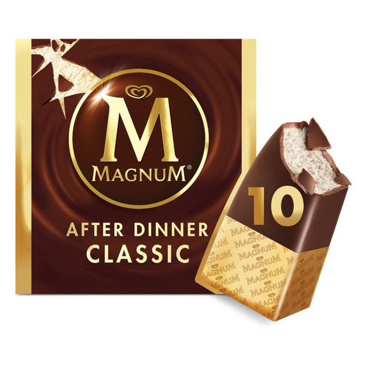 Ice Cream Bars - Magnum After Dinner Mini Chocolate Ice Cream Bars 10 Pieces