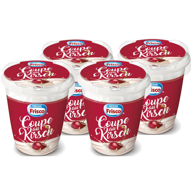 Ice Cream Containers - Frisco Vanilla & Cherry Ice Cream Cup with Kirsch 4x  190ml