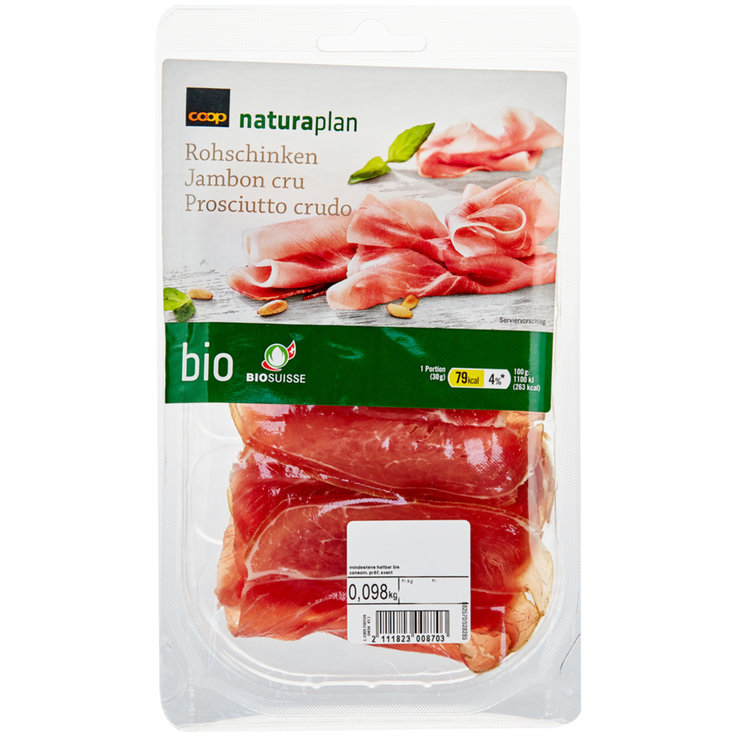 Raw Ham - Naturaplan Organic Extra Thinly Sliced Cured Ham ca. 100g