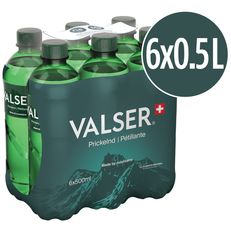 Multipacks under 1 Liter - Valser Classic Carbonated Mineral Water 6x50cl
