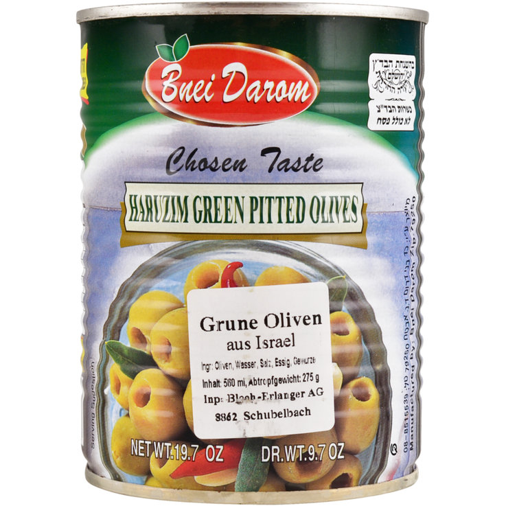 Olives - Bnei-Darom Kosher Pitted Green Olives