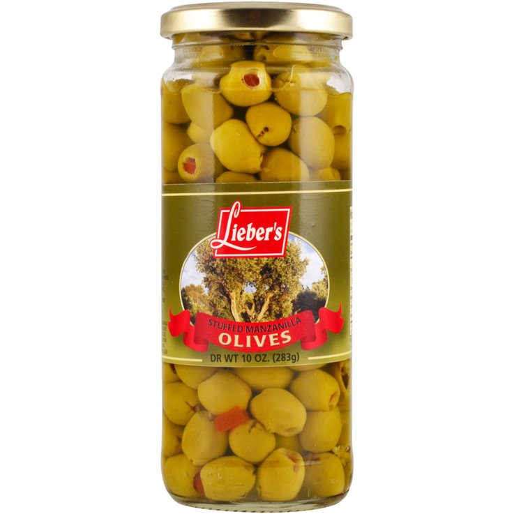 Olives - Kosher Green Olives Stuffed with Pimentos
